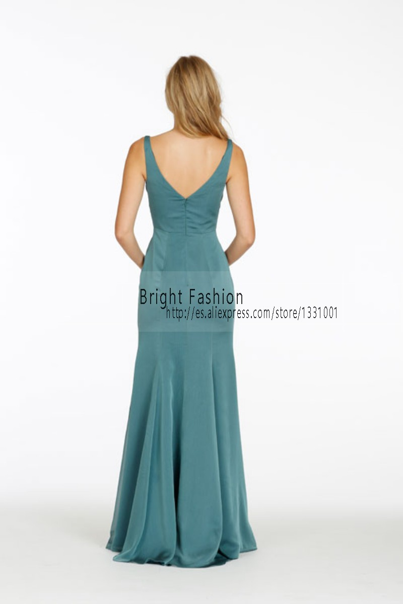 Long Teal Bridesmaid Dresses 2015 New Sexy Modest Bridesmaid Dress ...
