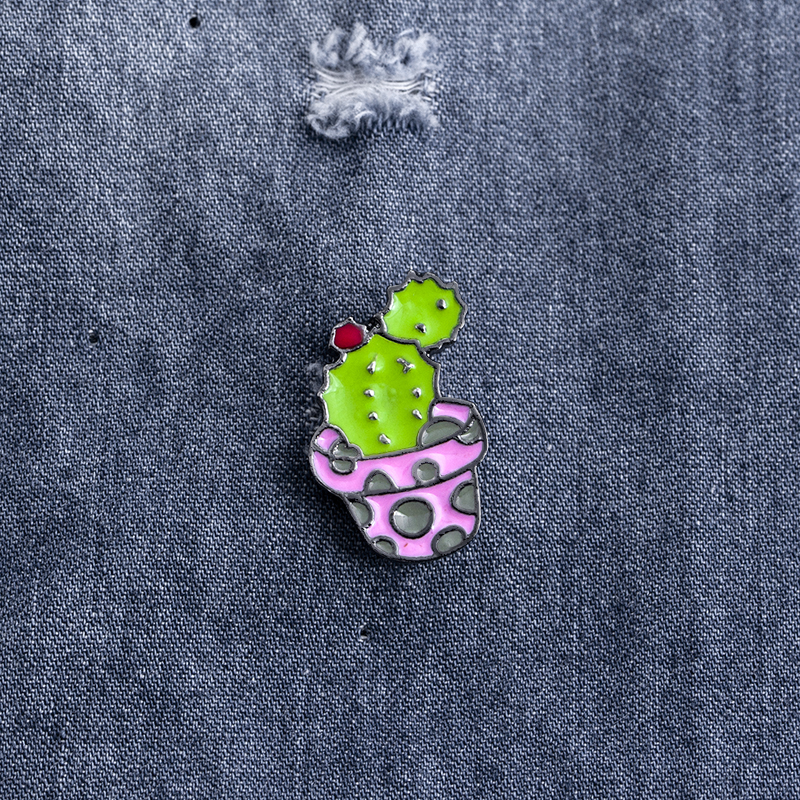 Cactus Succulent Plants Aloe Vera Scindapsus Cartoon Potted plants Brooch Pins Button Pin Denim Jacket Pin Badge Gift Jewelry