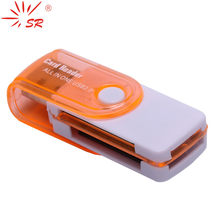 SR Tudo em 1 Multi-Função de Leitor de Cartão USB 4 em 1 SD TF MS M2 Memória Leitor de Smart Card para o Desktop Laptop