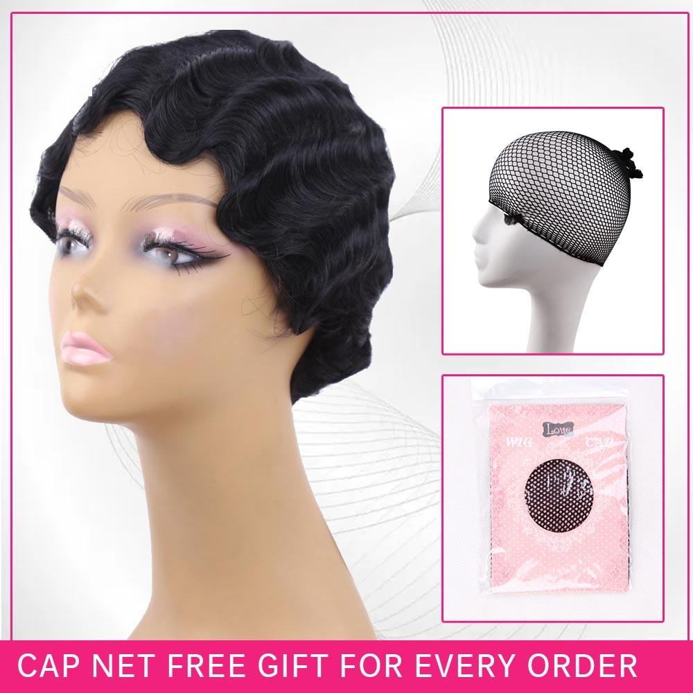 Amir Hair Classic Finger Waves Paryk Syntetisk Värmebeständig Kort - Syntetiskt hår - Foto 6