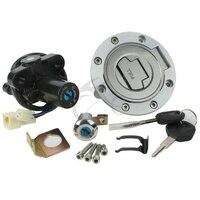Ignition Switch Seat Gas Fuel Tank Cap Lock Keys For YAMAHA YZF R6 600 2006 2011 YZF R1 2002 2003 FZ6S FZ6N FJR1300