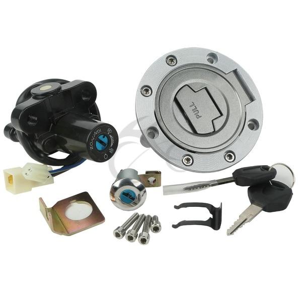 Interrupteur d'allumage siège gaz bouchon de réservoir de carburant verrouillage clés pour YAMAHA YZF R6 600 2006-2011 YZF R1 2002-2003 FZ6S FZ6N FJR1300