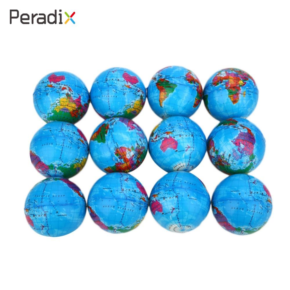 12pcs World Map Foam Ball Atlas Globe Palm Ball Planet Earth Ball Sponge globe educational toys Outdoor Teaching Tool 2pcs stress relief world map jumbo ball atlas globe palm ball planet earth ball stress relief slow rising squishies toys