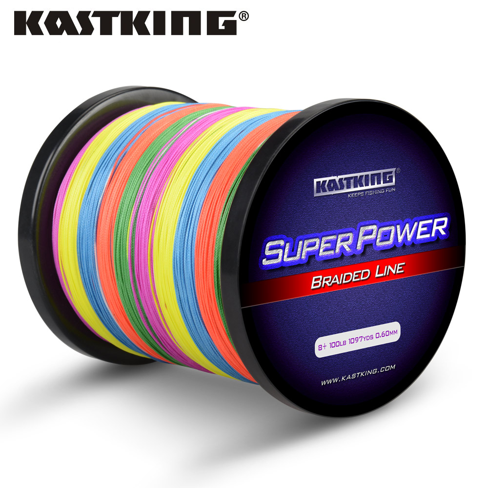 KastKing Brand Fishing Line 1000M 8 Stands Multifilament Line 65 150LB Braided Fishing Tackle Yellow Gray