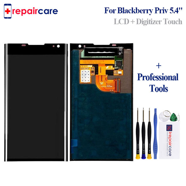 AMOLED Original For BlackBerry Priv LCD Display Touch Screen Digitizer Assembly With Frame Replacement Parts free shipping