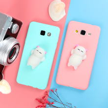 Squishy 3D Cartoon Candy Phone Cases for Samsung Galaxy S6 S7 Edge S8 Plus A3 A5 J3 J5 J7 2016 2017 Capa Fundas Case