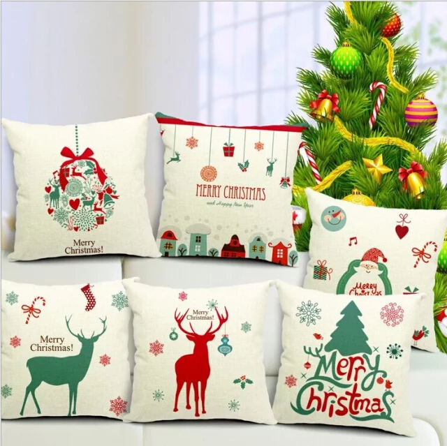 1pcs 45 45cm christmas cushion cover decorative home for Home decor brands