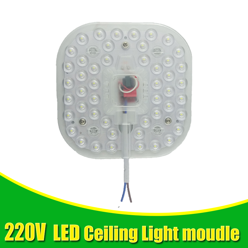 Square Ceiling Lamps LED Module AC220V 230V 12W 18W 24W LED Light Replace Ceiling Lamp Lighting Source Convenient Installation