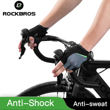 ROCKBROS Half Finger Bicycle Gloves Anti-Shock Gel Gloves Breathable Half Finger Cycling Gloves Elastic Mountain Bike Gloves rockbros cycling bike bicycle gloves half finger gel anti shock breathable elastic bicycle gloves mtb motorcycle sports gloves