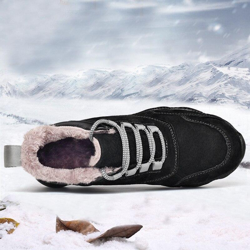 Nouvelles Hommes Véritable Cuir Gray fur gray Respirant Black slip Baskets Chaussures Backcamel De Hiver Casual Black fur Non Vulcaniser Plat Automne P4qx1n08pw