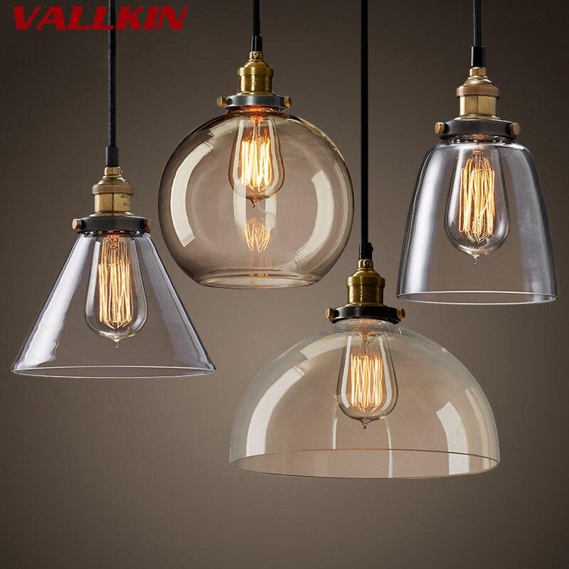 цена на Vintage Pendant Light Retro Glass Hanging lamp Russia Loft Luminaire Kitchen Dining Bedroom Pendant Lamp E27 Lampholder Lights