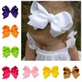 1PCS Big Style Boutique Ribbon HairBow Summer Style For Baby Solid Hairbows Hairclip For Kid Hamdmade Hair Bow For Children