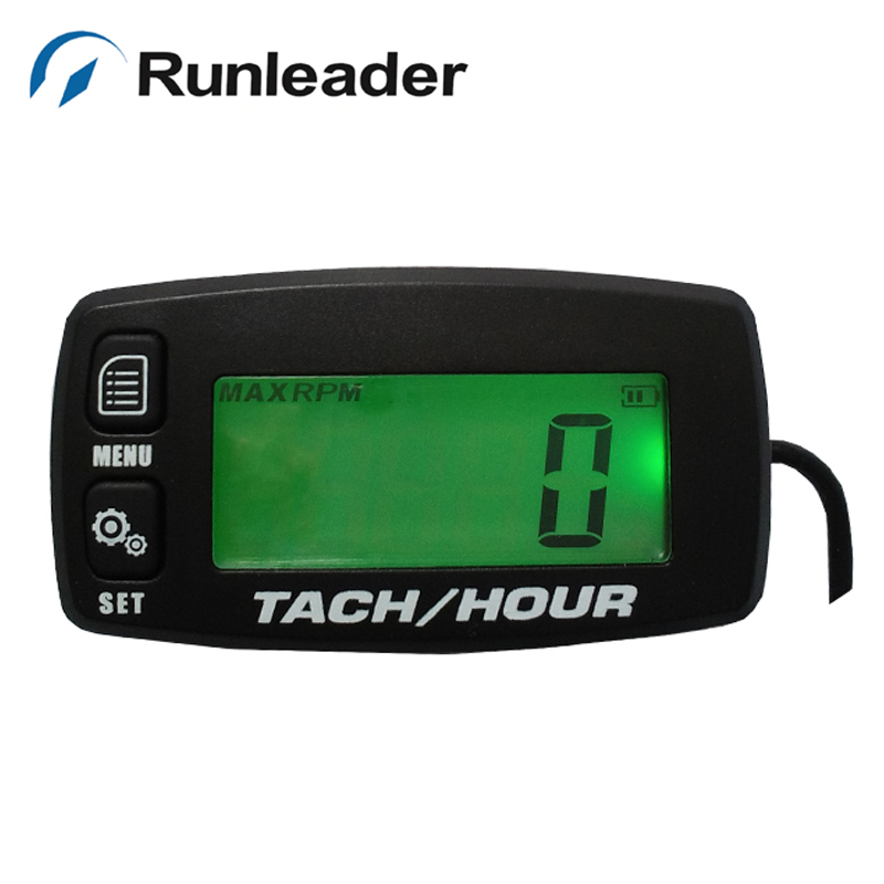 Digital LCD outboard glider ATV chipper pit bike chainsaw snowmobile marine jet ski paramotor boat timer Tachometer Hour Meter