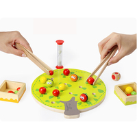Montessori Wooden Toys Fruit Animal Puzzles Baby Fingers Science Educational Toys For Family Parenting Game
