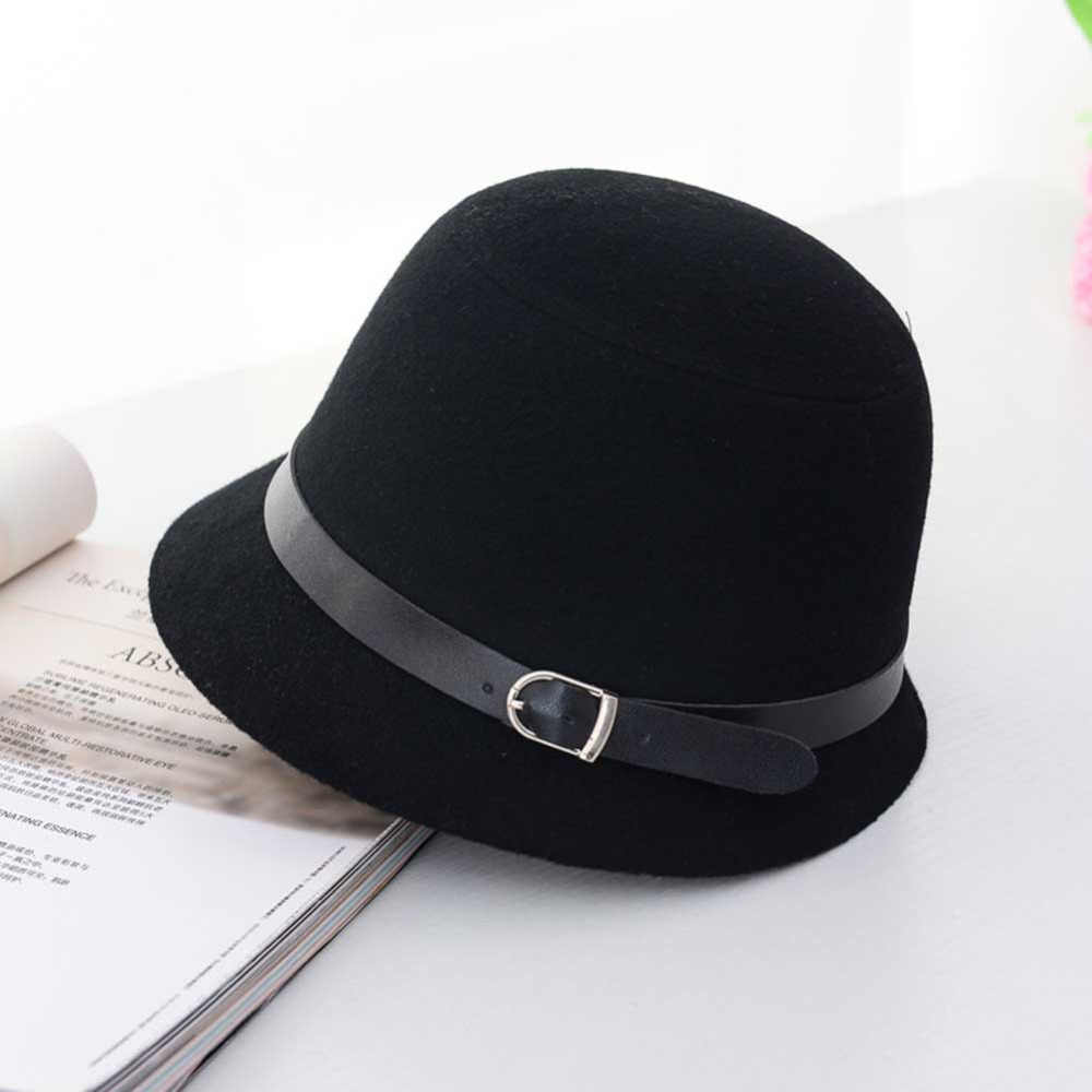eaf6b732b6fa7 New Europe England Korean Vintage Hat Warm Fedoras Winter Women hat fedora hat  wool cap Large
