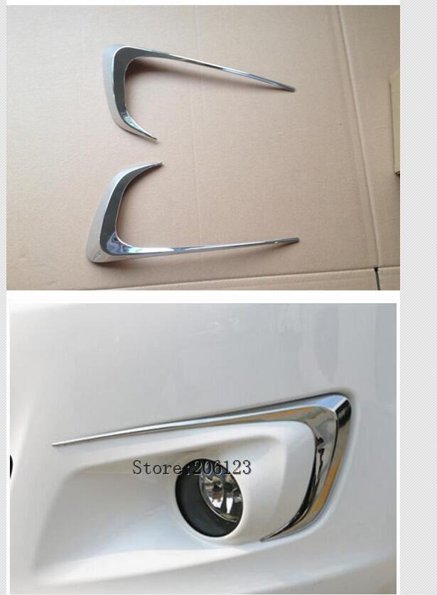 2PCS fog lamp trim FOR CITROEN ELYSEE 2014 15 16 7 C-Elysee ABS chrome fog hoods light car-styling plastic plating cover sticker