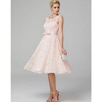 TS Couture линии Fit & Flare овальным вырезом Чай Длина Кружева Коктейльные Вечерние платье с бантом (s)
