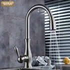 XOXO luxus küche wasserhahn kopf qualität kupfer pinsel nickel exporte zerstäubung pull out kitchen sink armaturen mischbatterie 83034 - 4