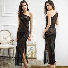 Women Sexy Lingerie Hot Erotic Dress Long Transparente Lace Babydoll Sleepwear Porno Costumes Underwear Nightgown