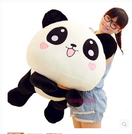 large 80 cm panda plush toy lovely lying panda doll throw pillow Christmas gift w6834 lovely giant panda about 70cm plush toy t shirt dress panda doll soft throw pillow christmas birthday gift x023