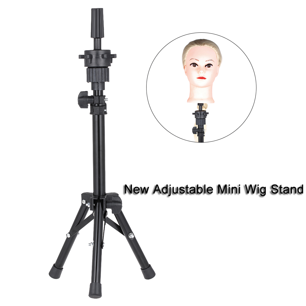 New Adjustable Mini Wig Stand Mannequin Head Hairdressing Tripod For Wigs Head Stand Model Bill Lading Expositor Hairdresser