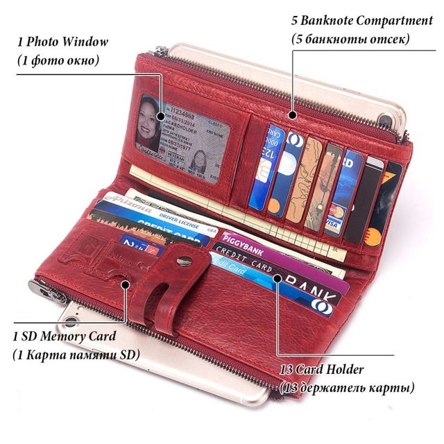 KAVIS Leather Wallet with Free Engraving