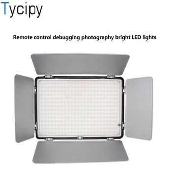 Tycipy Professional LED Video Light Camera Photo Studio Night Lighting with Battery Changer for Makeup Youtube Facebook