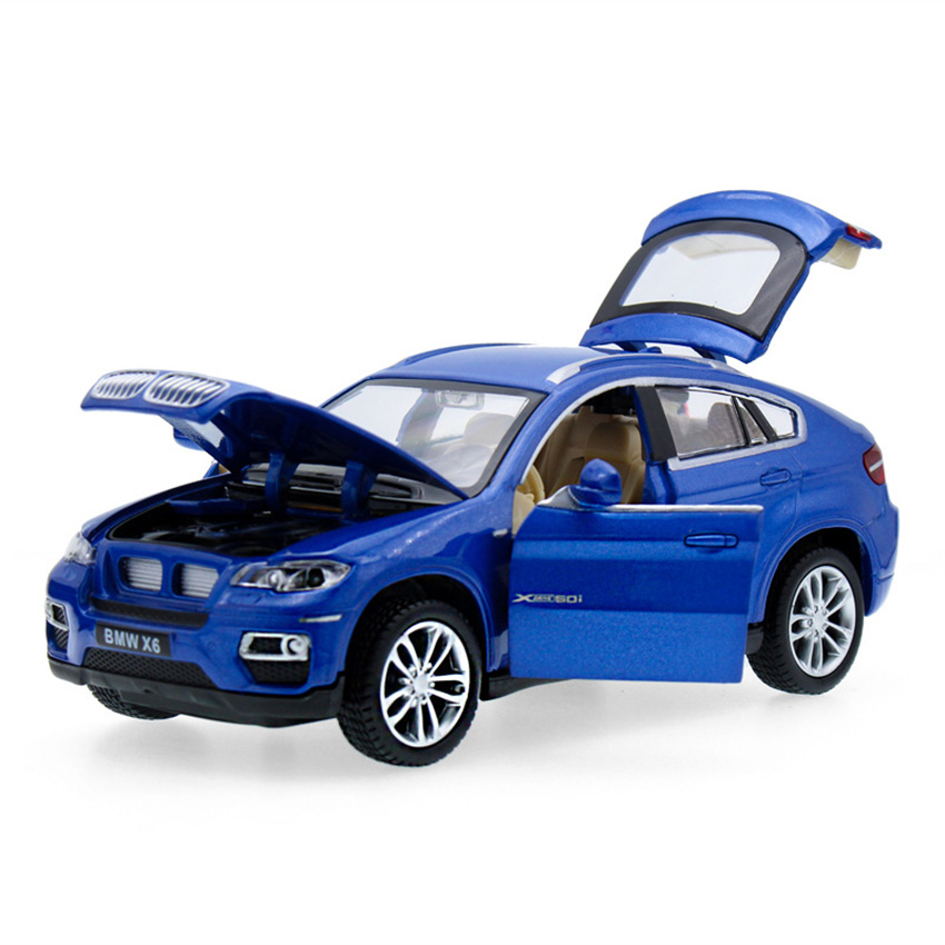 1:32 X6 SUV Coupe Simulation Toy Vehicles Model Alloy Pull Back Children Toys Genuine License Collection Gift Off-Road Car Kids 1 32 suv ml63 simulation toy car model alloy pull back children toys genuine license collection gift off road vehicle kids toy