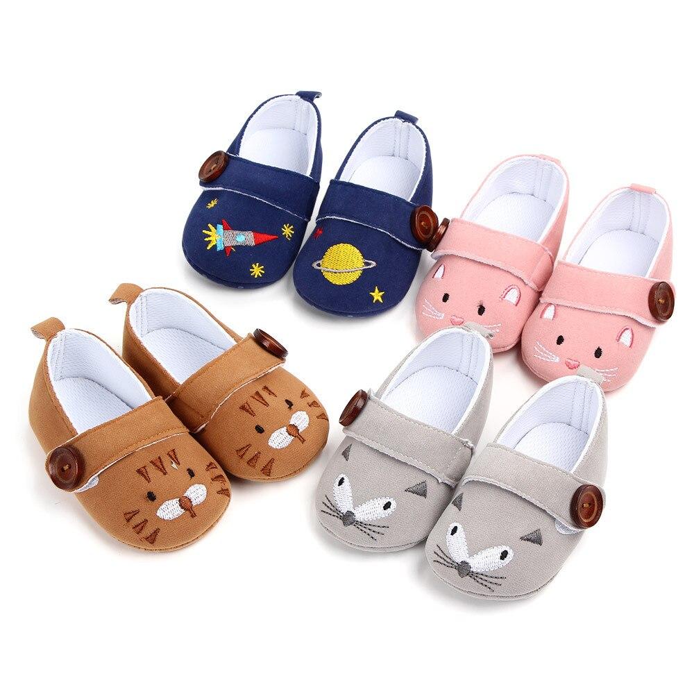 0-18 Monate Erste Wanderer Unisex Kleinkind Cartoon Taste Baby Schuhe Non-slip Weichen Boden Baby Mädchen Und Jungen Schuhe Aromatischer Charakter Und Angenehmer Geschmack