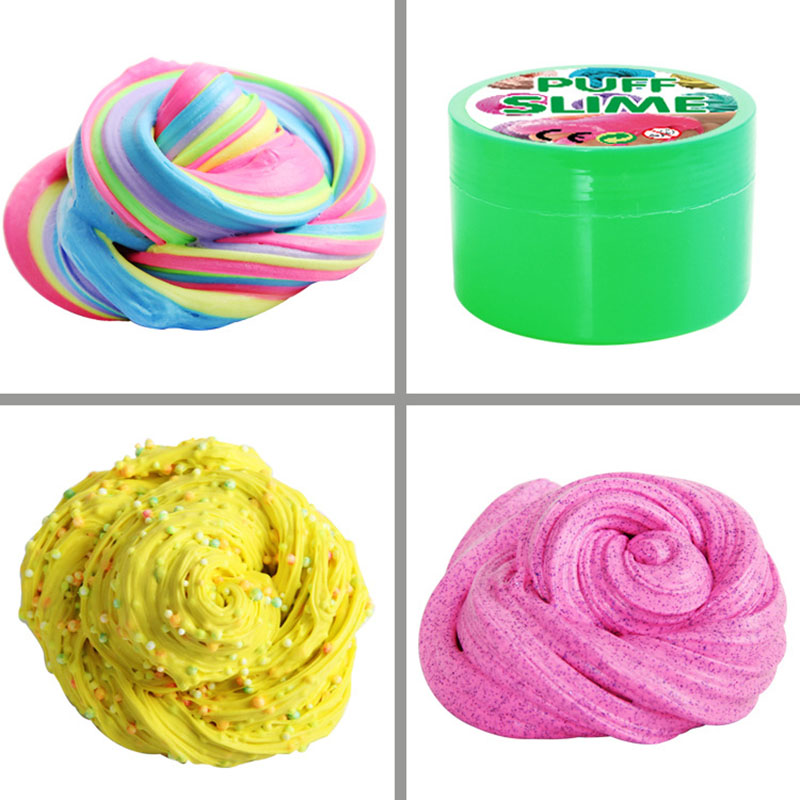 10Pcs/lot For Adults Children Slime Stress Relief No Borax Kids Toy Lazy Mucus Stress Reliever Toy Special Needs DIY Color Sand
