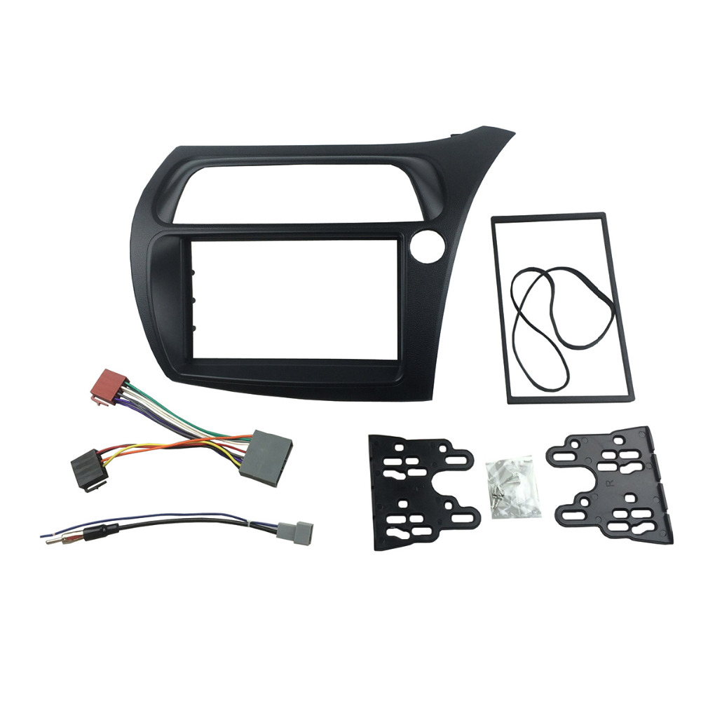 For Honda Civic Rhd Double Din Radio Fascia With Wiring Harness Antenna Stereo Panel Dash Installation Trim Kit Face Frame Bezel In Fascias From Automobiles