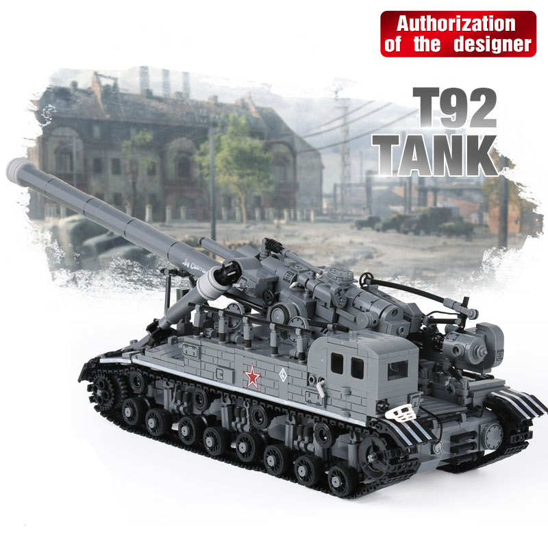 XingBao 06001 1832Pcs Creative MOC Military Series The T92 Tank Set Children Education Building Blocks Bricks Toys Model Gifts hot modern military t92 tank moc building block model bricks toys collection for adult children gifts