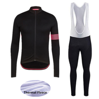 rcc 2018 Winter Thermal Fleece Men's Cycling Jersey Set Mountain Bike Quick Dry Long Sleeve Cycling Clothing 9D Gel pad trousers