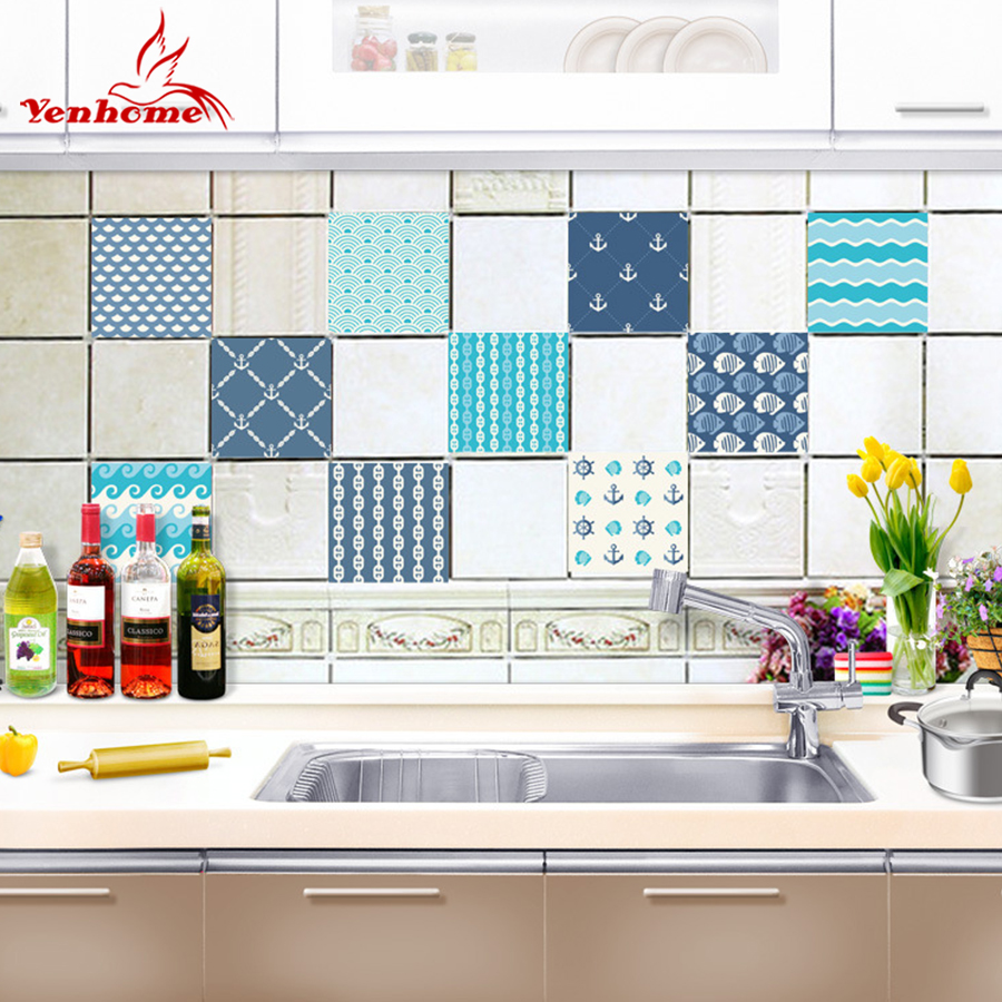 Aliexpress.com : Buy Backsplash Tile Stickers 10 PCS Set Traditional ...