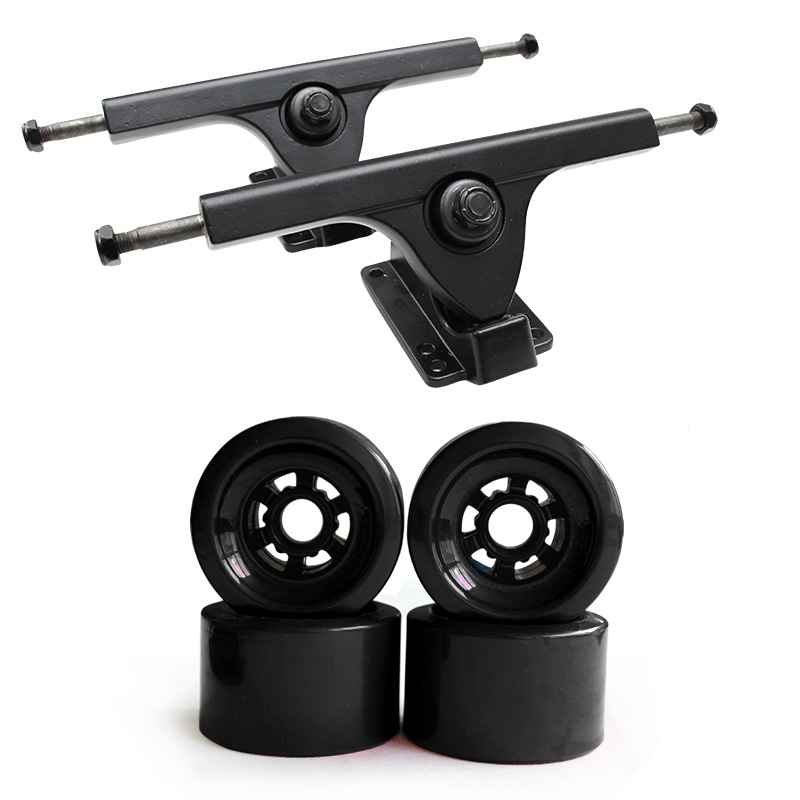 83mm Big Soft Wheels Truck Set 7 25 Longboard Truck Wheels Skateboard Truck Aluminium Alloy Bridge