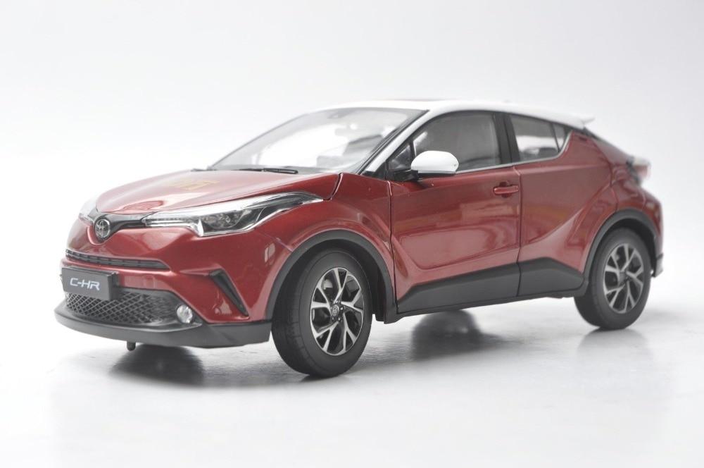 1:18 modèle moulé sous pression pour Toyota C-HR 2017 toit rouge et blanc (Edtion spéciale) alliage jouet voiture Miniature Collection cadeaux CHR C HR