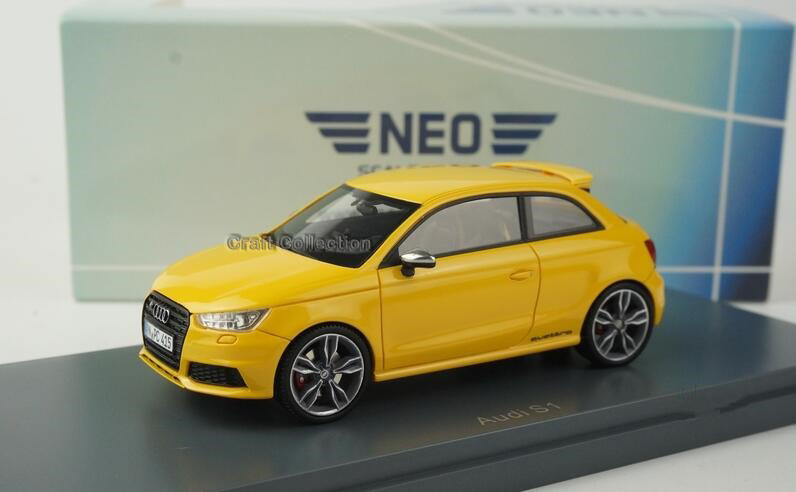 Yellow 1:43 Car Model AUDI S1 Minicar Diecast Model Car Classic Toys Replica Luxury Collection Miniature