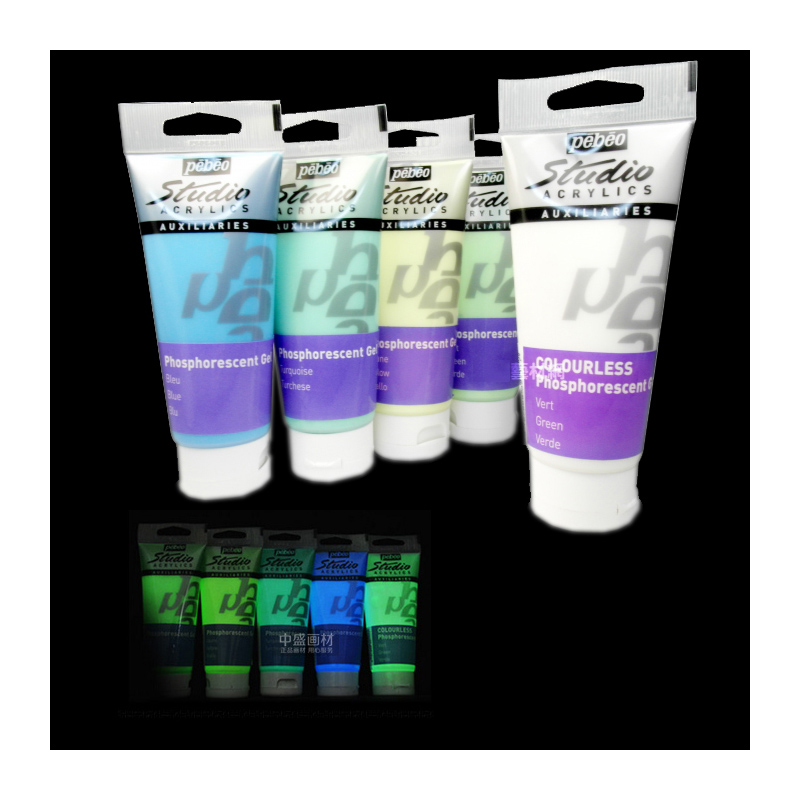 pebeo 100ML/pcs Acrylic Paint Glow in the Dark Glowing paints Luminous Water Color Pigment Fluorescent painting Street  Graffitpebeo 100ML/pcs Acrylic Paint Glow in the Dark Glowing paints Luminous Water Color Pigment Fluorescent painting Street  Graffit