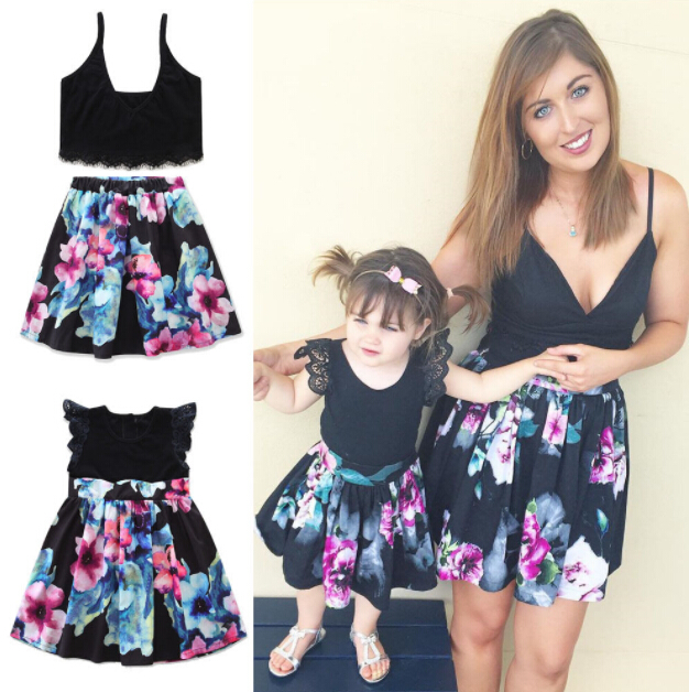 3f0efdb782d4a Pudcoco Family Match Clothes Summer Sleeveless Woman Crop Tops+ ...