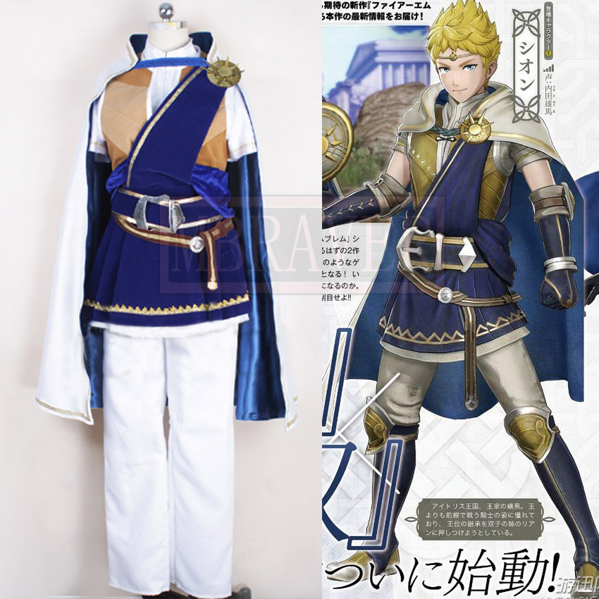 Game Fire Emblem Warriors Sion Knight Suit Uniform Cosplay Costumes Custom Made Any Size цена