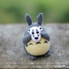 Ensemble de feutres en laine, animal de dessin animé mon voisin Totoro, feutres à feutres, fait à la main, matériel de bricolage pour l'artisanat à l'aiguille
