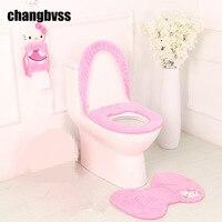 2pcs Set Cute Dolphin Marine Theme Bathroom Rug Mats Toilet Pattern Bath Non Slip Mats Floor