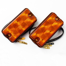 1 Pair 12V Yellow Turn Signal Lights Forklift LED Signal Light Clearance Lamp Side Marker Lights цена 2017