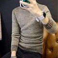 Homens outono e inverno quente longo-sleeved alta-pescoço suéter de lã pulôver dos homens de grande porte dos homens moda