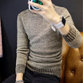 Men fall and winter warm long-sleeved high-necked wool sweater large size men's pullover men's fashion