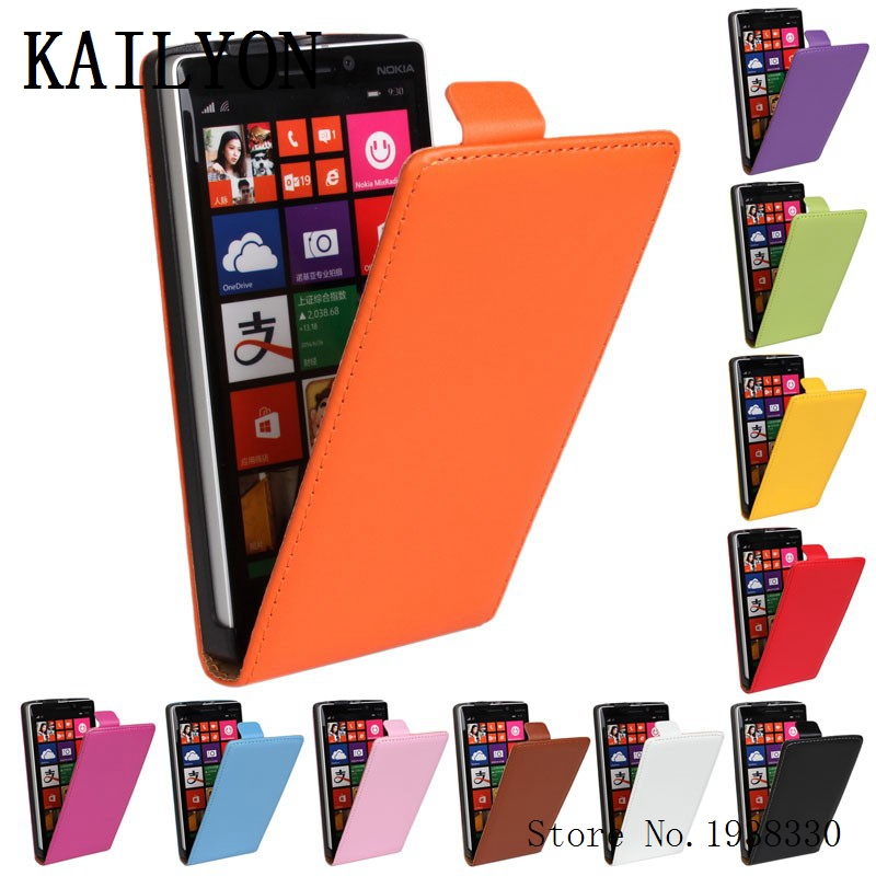 KAILYON Case Cover For Nokia Lumia 930 Luxury Genuine Leather Flip Phone Cases For Nokia lumia 930 N930 Open Up And Down PU Prot ...