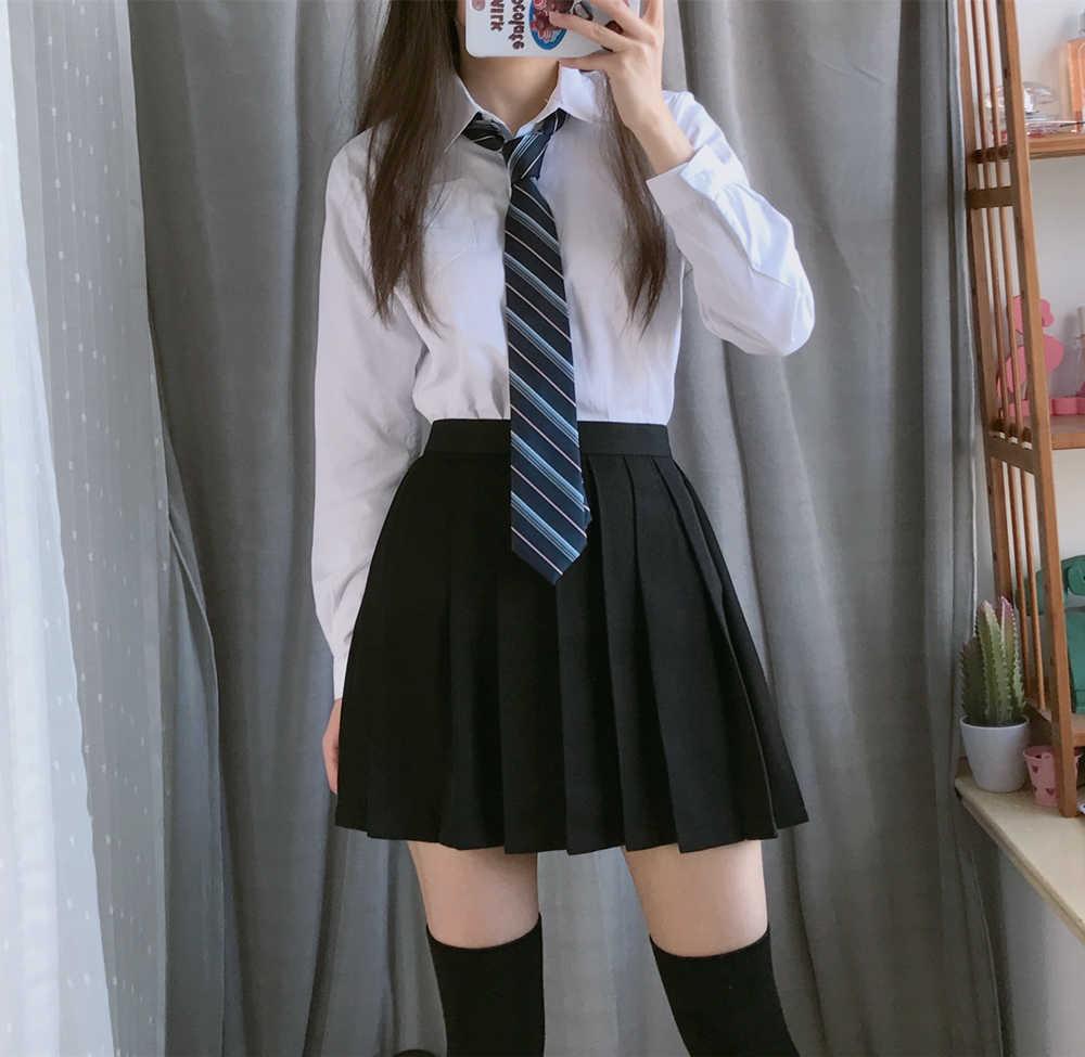 2020 女性の学生スーツスカート日本 jk コスプレかわいい女性綿学校ユニフォームセット韓国女子校生制服スーツ