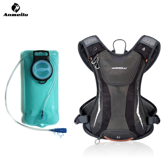 ANMEILU 5L Camping Backpack 2L Water Bag Outdoor Sports Running Marathon Cycling Bike Bag Hydration Backpack Water Bladder Pouch