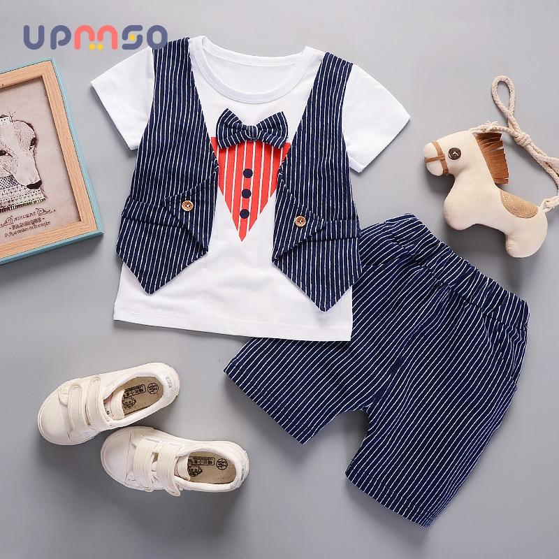 Summer New Baby Boy Clothes Set Gentleman Set Shirt+Waistcoats+Pants Cotton ChildrenS Kids Clothes Set Children Costume