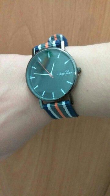 2019 Mens Women Watches Top Brand Luxury Unisex Striped Canvas Band Quartz Wrist Watch Business Relogio Masculino Feminino Saat